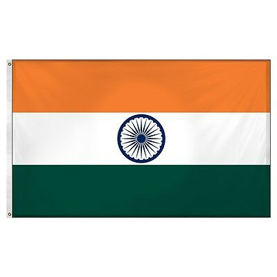 $7.27 • Buy 3x5 India Indian Super-Poly Flag 3'x5' Banner Brass Grommets Fade Resistant