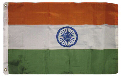 $7.24 • Buy 2x3 India Indian SuperPoly Flag 2'x3' House Banner Grommets