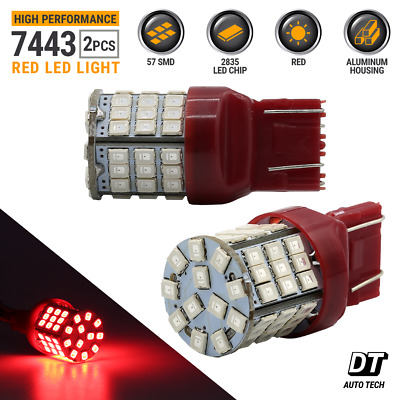 $10.43 • Buy Syneticusa 7443 LED Rear Tail Brake Stop Parking Light Bulbs Red Bulbs 7440 7444