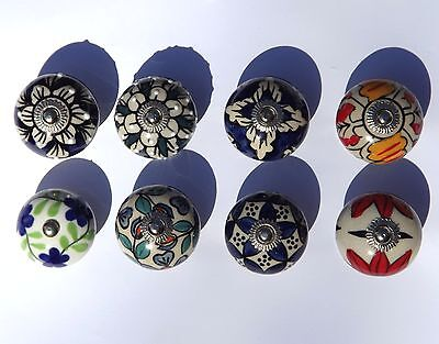 Choice Of Styles Ceramic Knobs Handle For Drawer Door Cupboard Wardrobe Cabinets • 1.99£