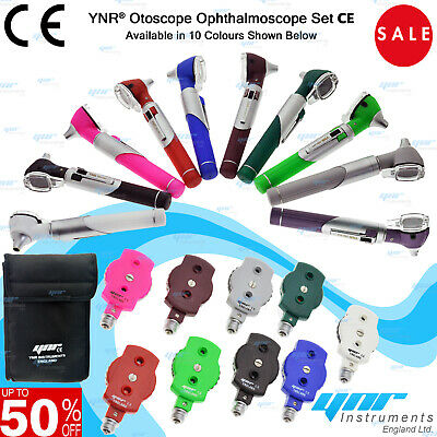 YNR Otoscope Ophthalmoscope LED F.O Opthalmoscope ENT Diagnostic Examination Set • 19.70£