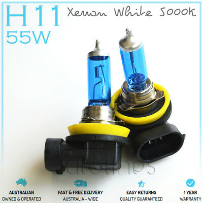 AU25.64 • Buy H11 12V 55W Xenon White 5000k Halogen Car Headlight Lamp Globes / Bulbs LED HID