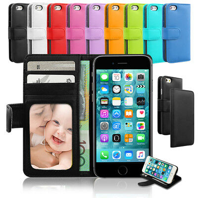 AU6.95 • Buy Leather Wallet Credit Card Holder Case Flip Cover For Apple IPhone 7 8 XS Max XR
