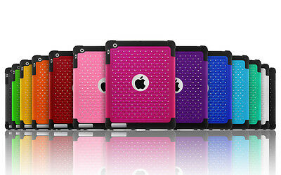 £5.67 • Buy Luxurious Sparkly Studded Bling Diamond Hybrid Case Cover For Apple IPad 2 3 4