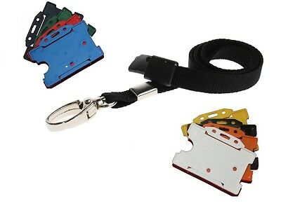 Black Safety Breakaway Lobster Clip Neck Lanyard With ID Card Badge Holder . • 2.20£