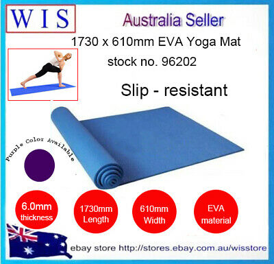 AU22.99 • Buy 6mm Thick EVA Non-Slip Yoga Mat Exercise Fitness Lose Weight,1730mm X 610mm