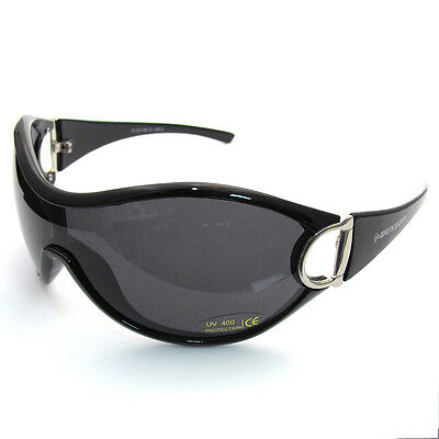 Super Dunlop LARGE Ladies Sunglasses Wraparound Uv400 #2 • 11.99£