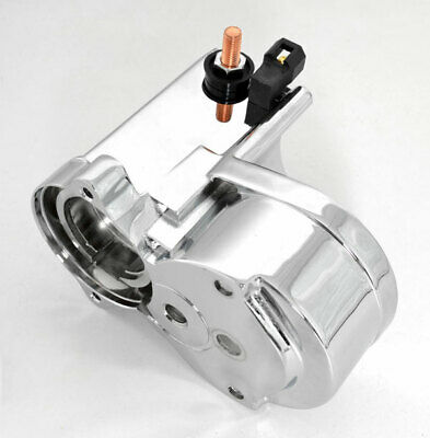 $199 • Buy Chrome Electro-magnetic Switch Housing Starter 2.4 Kw For Harley Big Twins