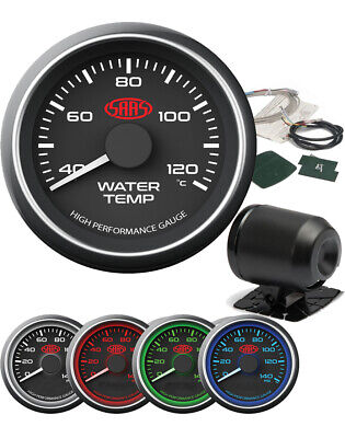 AU59 • Buy SAAS Black Water Temp Gauge 52 Mm Electrical Multi Color LED