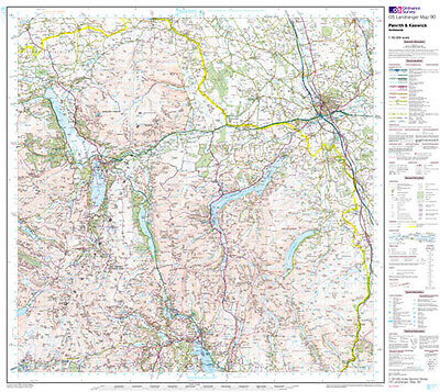 Os Landranger Map 90 Penrith & Keswick  - Flat Wall Map -  • 25£