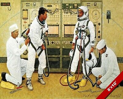 $ CDN19.72 • Buy Nasa Astronaut Grissom & Young In Suit Norman Rockwell Painting Art Canvas Print