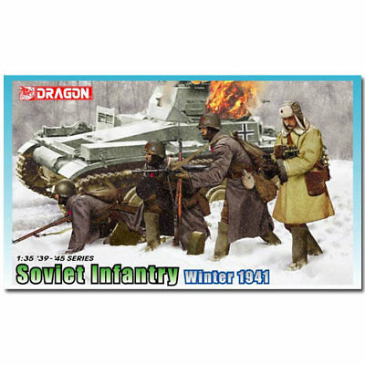 DRAGON 6744 Soviet Infantry Winter 1941 Figures Model Kit 1:35 • 13.31£