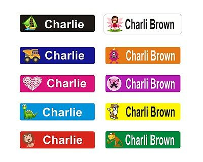 AU6.95 • Buy 36 Personalised Kids Name Labels Stickers Book Tags School Childcare, Toys