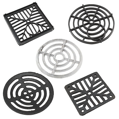 £3.99 • Buy Grate Man Hole Gully Cover Black Cast Alloy Plastic Round Square Drain Grid