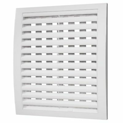 £6.69 • Buy White Air Vent Grille With Adjustable Shutter Wall Ducting Ventilation Cover