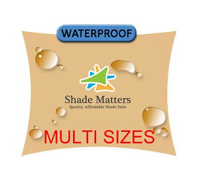 AU155 • Buy Shade Sails Waterproof Shade Sail Sand Square Rectangle Triangle 200gsm