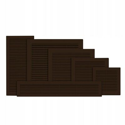£3.49 • Buy Brown Air Vent Grille Duct Ventilation Cover Louvre ABS Plastic 6  8  10  12