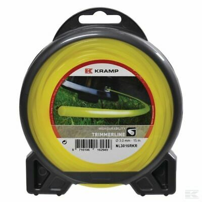 2.4mm X 15M HEAVY DUTY STRIMMER TRIMMER LINE CORD WIRE ***FREE POST*** • 5.10£