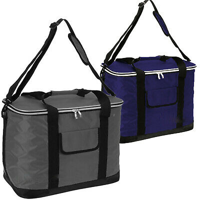£7.99 • Buy Extra Large 60 Can 30L Insulated Cool Bag Cooler Picnic Drinks Carrier Tote
