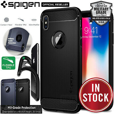 AU19.99 • Buy For Apple IPhone X Case SPIGEN Rugged Armor Resilient Ultra Soft SLIM TPU Cover