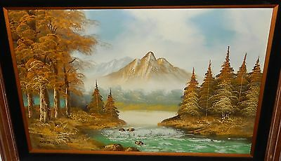$ CDN840.64 • Buy Cantrell Huge Original Oil On Canvas River Creek Mountain Landscape Painting