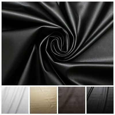 Faux Leather Dress Making Clothing Leatherette Lycra Stretch Fabric PVC Material • 7.49£