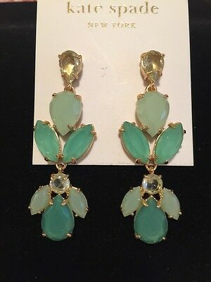 AU129.48 • Buy *new* Kate Spade 'gardens Of Paris' Statement Earrings Giverny Blue