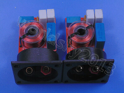 $ CDN14.55 • Buy 2pcs 2 Way 2 Unit Speaker Frequency Divider Crossover Filters With Junction Box
