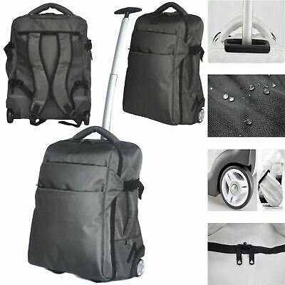 £44.39 • Buy 3 In 1 Lightweight Wheeled Cabin Size Trolley Bag Backpack Hand Luggage Holdall