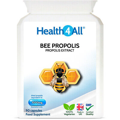 Health4All Bee Propolis HIGH STRENGTH 1000mg Capsules | IMMUNE SUPPORT • 8.99£