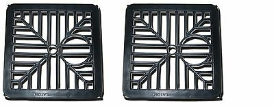 £3.99 • Buy 2 X Black Plastic Square Drain Gulley Grid Cover 150mm 6 Inch