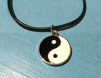 AU4.50 • Buy YIN YANG CHARM / PENDANT NECKLACE - Duality, Complementary Energies - A1 Gift