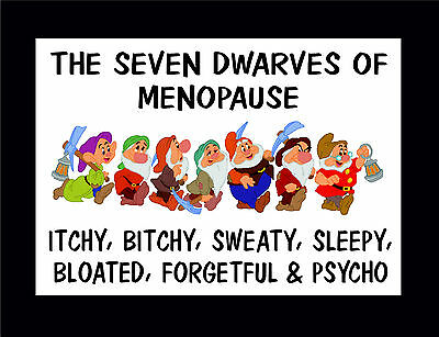 £1.99 • Buy Funny Sign - The Seven Dwarves Of Menopause - Gift / Present For Mom Nan Aunty 7