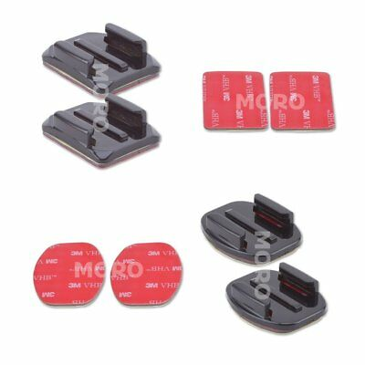 AU9.17 • Buy 2 Curved+2 Flat Adhesive Mount With Sticky Pad GoPro Hero 7 3 3+ 4 5 6 Camera