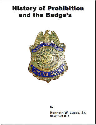 £18.07 • Buy HISTORY OF PROHIBITION AND THE BADGES Chronology Of Badges By Lucas