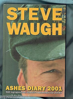 AU30 • Buy #ll.  Steve Waugh Signed Cricket Book - Ashes Diary 2001