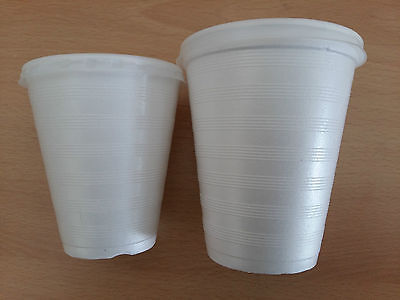 7oz 10oz Foam Polystyrene Cups With Lids Disposable Hot Cold Drinks Juice Tea • 8.91£