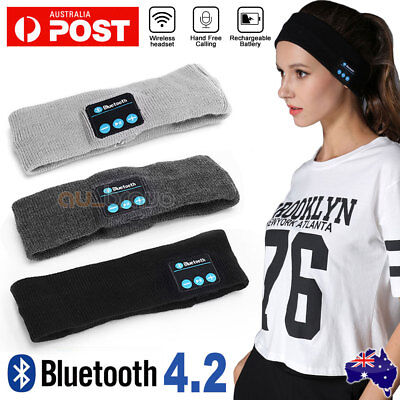 AU12.95 • Buy Wireless Bluetooth Headband Earphone Stereo Sport Headphone Headset Sleep AU