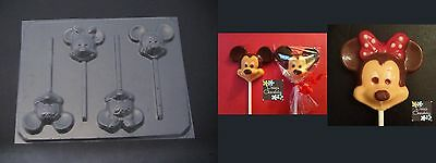 MICKEY MINNIE MOUSE Face Head Chocolate Candy Soap Mold • 3£