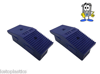 PAIR OF 76mm X 25mm REPLACEMENT LADDER / STEP LADDER FEET • 4.99£
