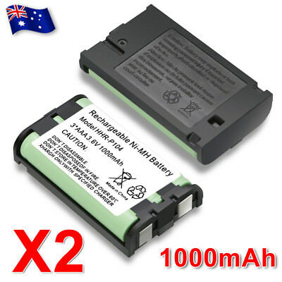 AU8.95 • Buy 2X Battery FOR Panasonic HHR-P104 Cordless Phone Compatible Ni-MH 3.6V 1000mAh
