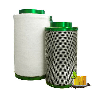 AU159.95 • Buy 6  Activated Carbon Filter Flesh Clean Air Thru Hydroponic Grow Light Room Tent