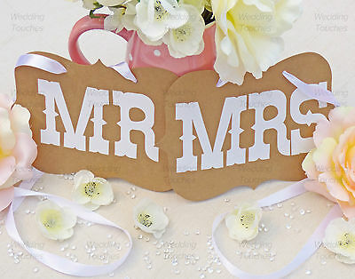 Mr And Mrs Wedding Photo Prop Decoration Bunting Banner - In Black Or Vintage • 3.99£