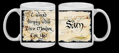 Personalised Hobbit Lord Of The Rings Simply Walk Into Mordor Film Mug Dad Gift • 8.99£