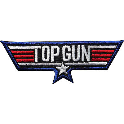 £2.79 • Buy Top Gun Embroidered Iron Sew On Patch Fancy Dress Jacket T Shirt Badge Transfer