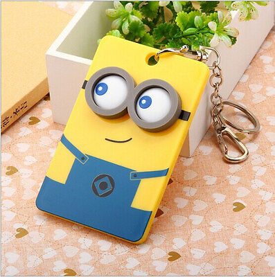 PVC 3D Minions Character ID Card Badge Holder And Neck Lanyard • 3.49£