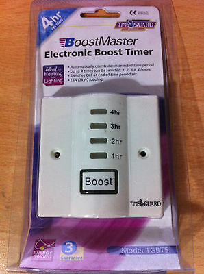 Electronic Boost Timer Switch Immersion Switch Energy Saving  4 Hr Version New • 29.11£