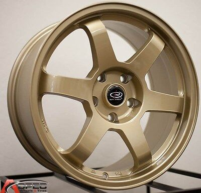 AU1030.83 • Buy 17x8 Rota Grid Wheels 5x114.3 Rim Et35mm Gold Fits 5 Lug Eclipse Sti Camry Rx8