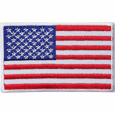 USA Flag Embroidered Iron / Sew On American Patch United States Of America Badge • 2.79£