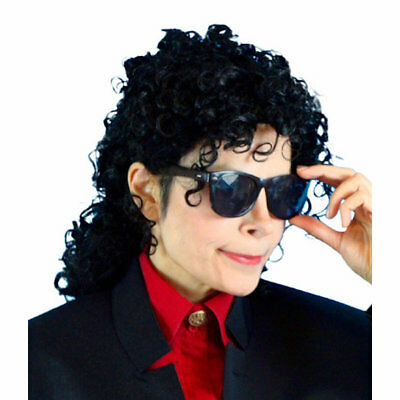 AU28.90 • Buy Michael Jackson 90's Wig Men's Fancy Dress Costume Accessory Wig